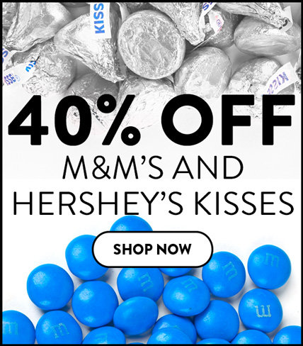 40% off kisses and m&ms