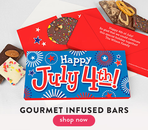 4th of July Gourmet Infused Chocolate Bars