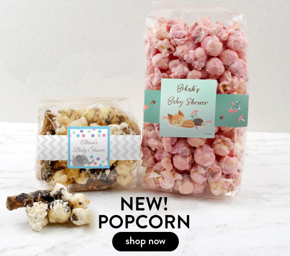 Shop New Personalized Popcorn Baby Favors