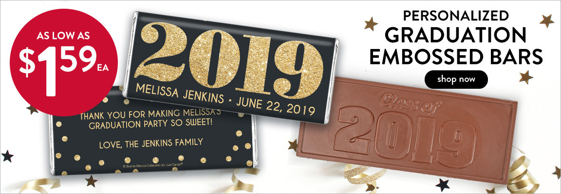 Shop Personalized Graduation Embossed bars