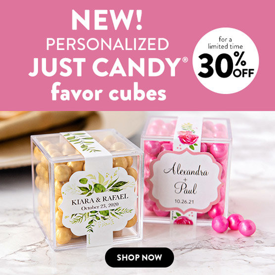 new Just Candy® favor cubes