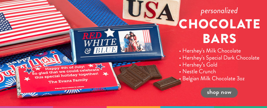 4th of July Chocolate Bars