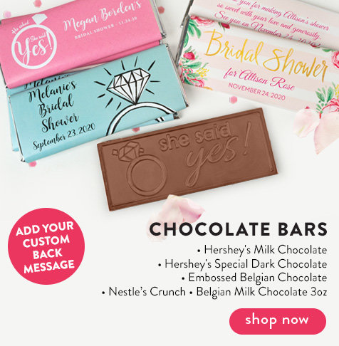 Bridal Shower Chocolate Bars