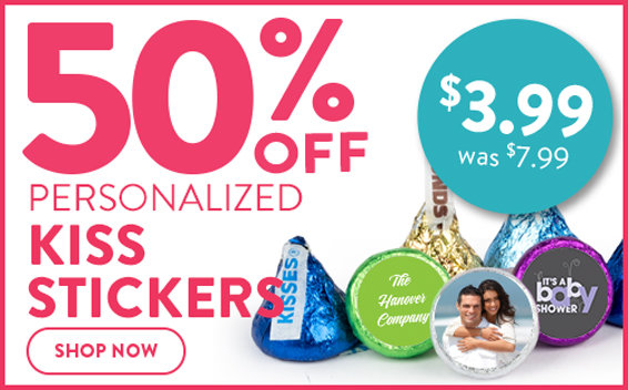 50% off kiss stickers