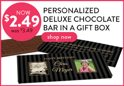 chocolate bar in a gift box