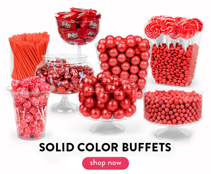 Solid Color Candy Buffets