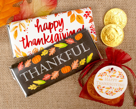 Shop Persaonlized Thanksgiving Candy Favors
