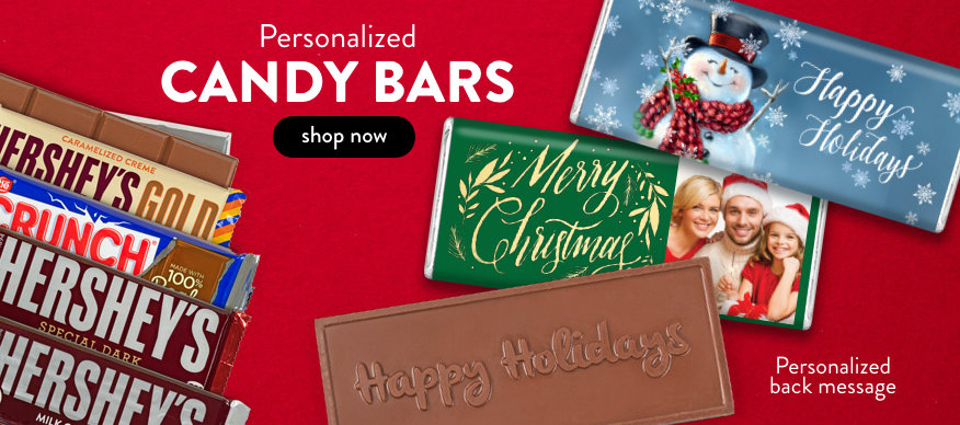 Personalized Christmas Chocolate Bars