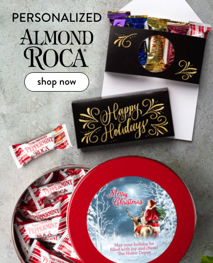 New! Personalized Almond Roca Gifts