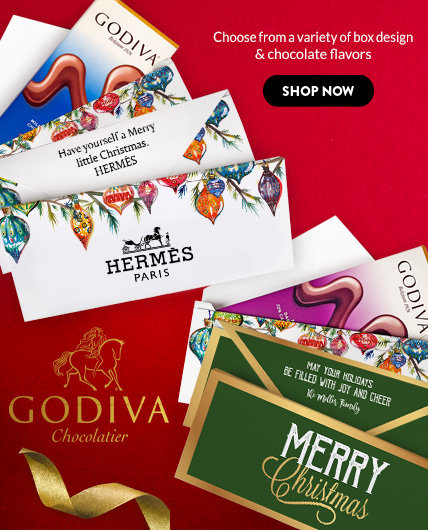 New! Personalized Godiva Chocolate Bars
