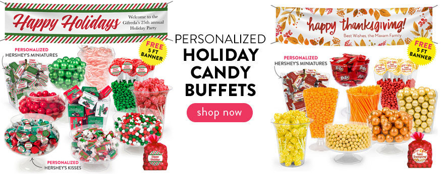 Holiday Personalized Candy Buffets