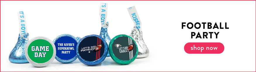 Football Party Hershey's Kisses