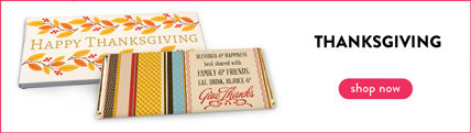 personalized thanksgiving wrappers & boxes