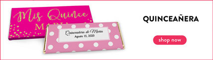 Personalized Quinceañera Wrappers & Boxes