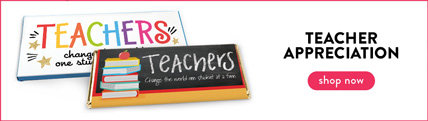 personalized teacher appreciation wrappers & boxes