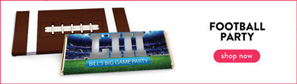personalized football party wrappers & boxes