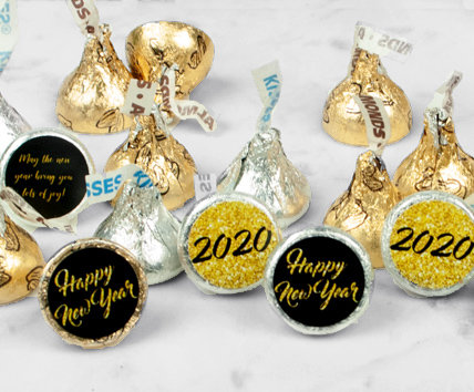 Personalized New Year's Eve Hershey's Kisses