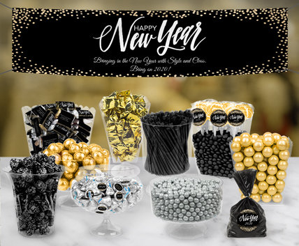 Personalized New Years Eve Candy Buffet