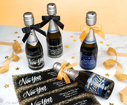 Personalized New Year's Eve Water Bottle Labels