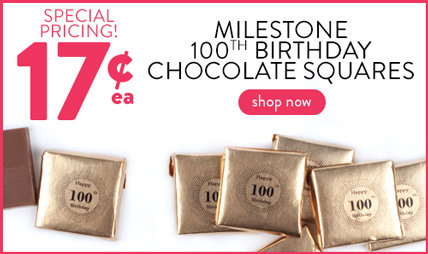 100th birthday chocolate squares