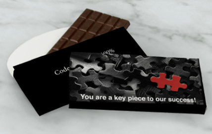 Personalized 3oz Chocolate Bar in a Gift Box