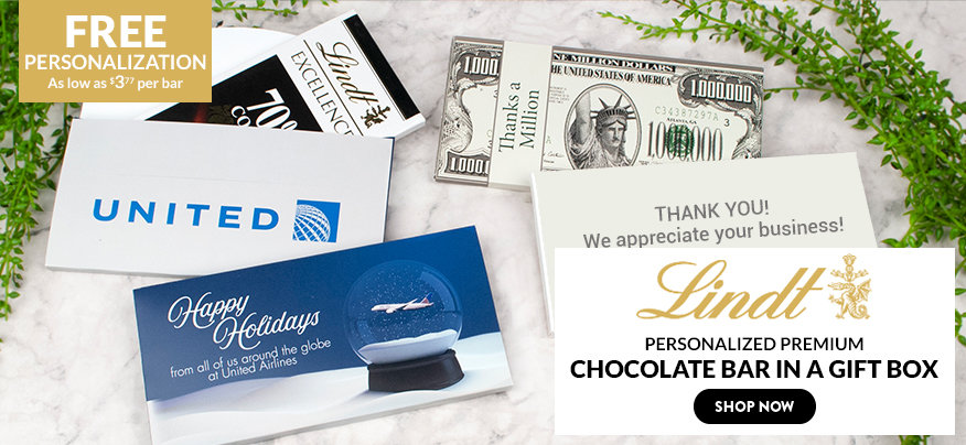 Personalized Business Lindt Chocolate Bars