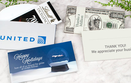Personalized Business Lindt Bars in a Gift Box
