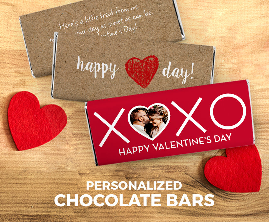 Valentine's Personalized Chocolate Bars