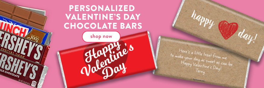 Personalized Valentine's Day Chocolate Bars