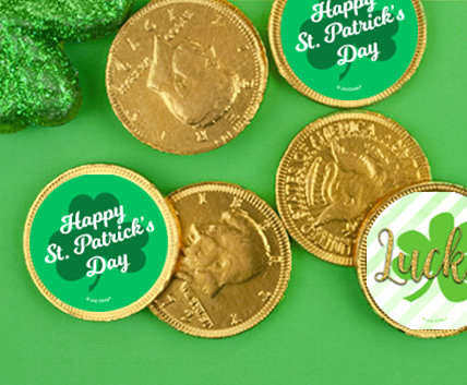 St Pattys day coins