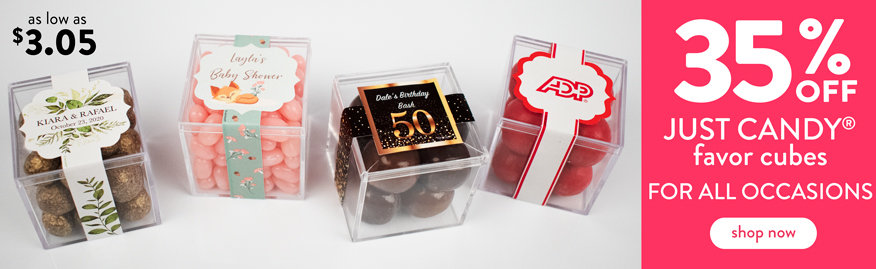 Shop New Graduation JUST CANDY favor cubes