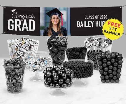 Black Graduation Candy Buffets