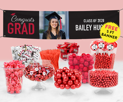 Red Graduation Candy Buffets