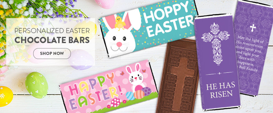 Shop Easter Personalized chocolate Bars