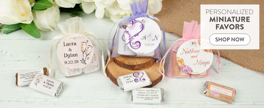 Personalized Hershey's Miniature Chocolate Favors