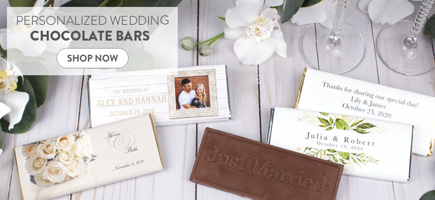 Personalized Wedding Reception Chocolate Bars