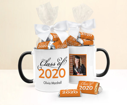 Orange Graduation Mugs