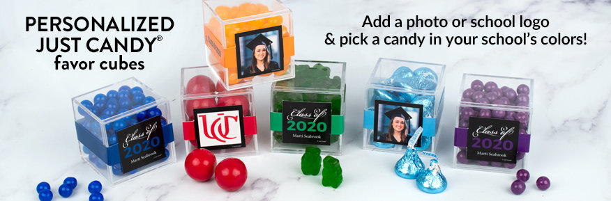 Personalized Graduation Just Candy Favor Cubes