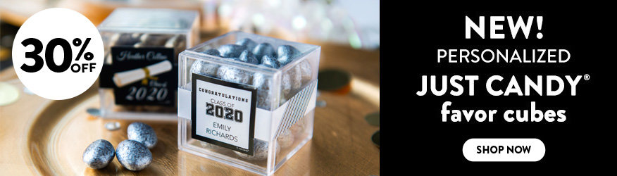 Shop our new Graduation JUST CANDY favor cube