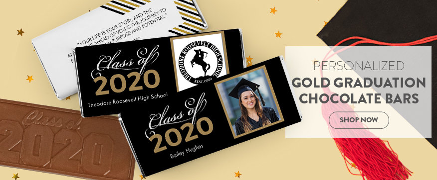 Gold Grad Chocolate Bars
