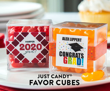Shop our new Personalized Graduation favor cubes