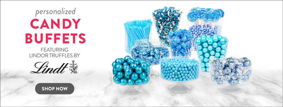 Personalized & Solid Color Candy Buffets