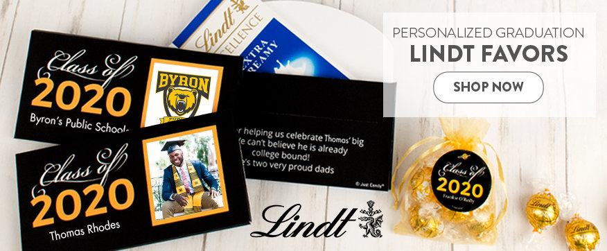Personalized Yellow Graduation Boxes & Favors