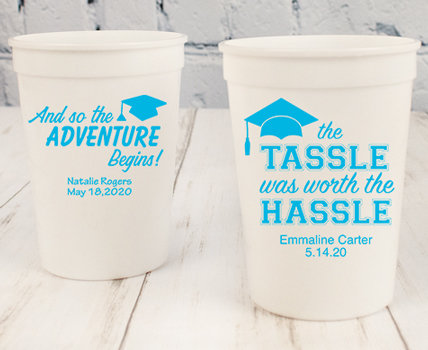 Personalized Baby Blue Graduation  Cups