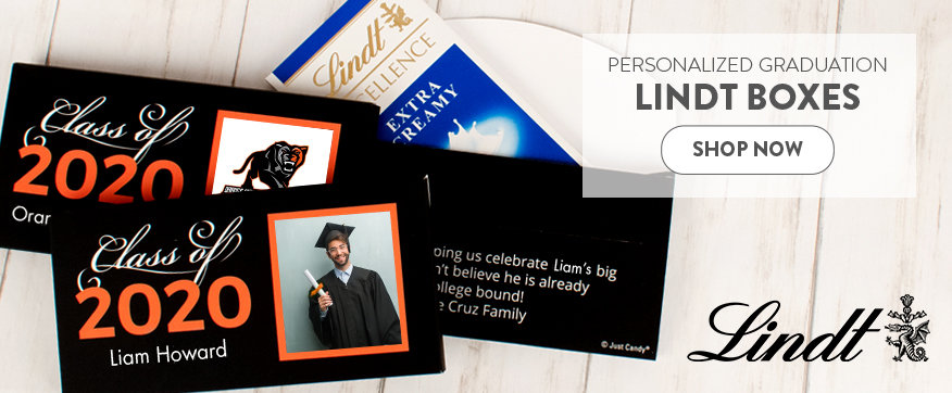 Personalized Orange Graduation Lindt Boxes & Favors