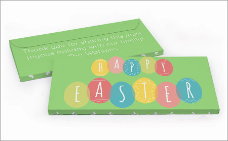 Personalized Easter Chocolate bar in a gift box