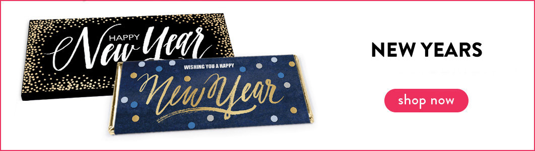 personalized new years wrappers & boxes