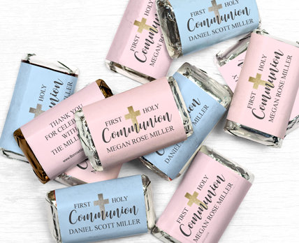 Personalized Communion Gourmet infused Chocolate Bars