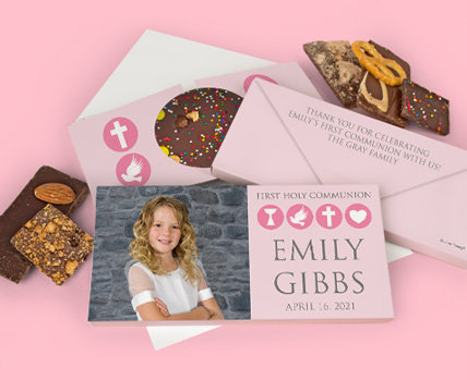 Personalized First Holy Communion Gourmet Infused Gift Boxes