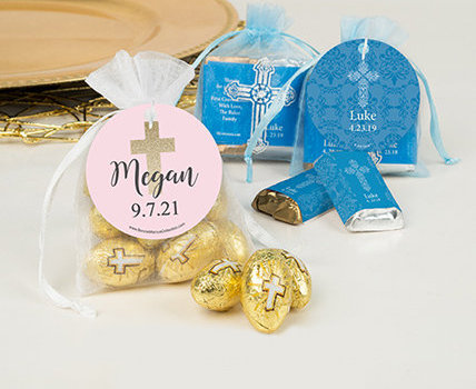 personalized communion candy filled favors